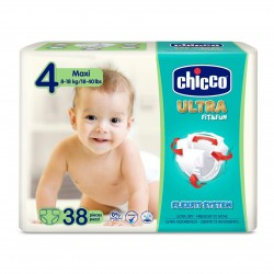 Chicco Pañales Talla 4 MAXI 8-18 kg (Maxi Pack) 38uds