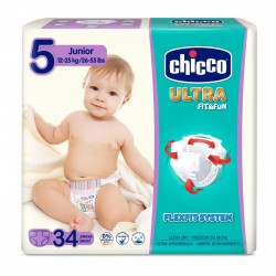 Chicco Pañales Talla 5 JUNIOR 12-25 kg (Maxi Pack) 34uds