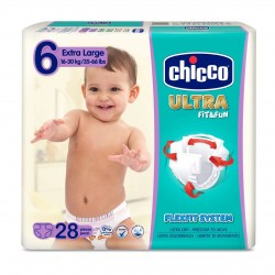 Chicco Pañales Talla 6 LARGE 16-30 kg (Maxi Pack) 28uds