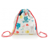 Bolsa merienda Happy Zoo Blanco/Gris
