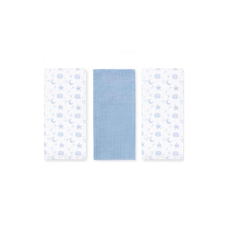 Coimasa Pack 3 Muselinas Bear Bl.-Azul