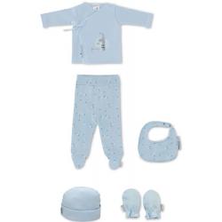 Bimbi Set Ropa Bebé Jirafa Azul 5 p.
