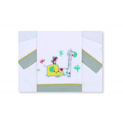 Petite Star Trípt.Mini Cuna Safari Bl.-Gris