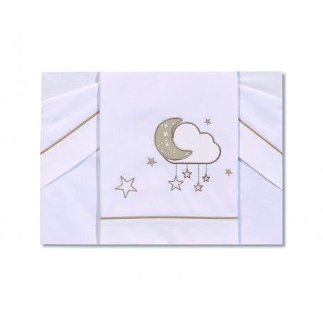 Petite Star - Trípt.Mini Cuna Nube Bl.-Lino