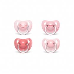 Suavinex Chupete Anatómico Látex +6m Rosa 2uds