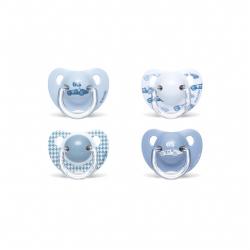 Suavinex Chupete Azul Tetina Anatómica Látex +6M 2uds
