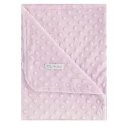 Pirulos manta doble cara Dots rosa