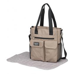Pirulos bolso Carry + cambiador Denim lino