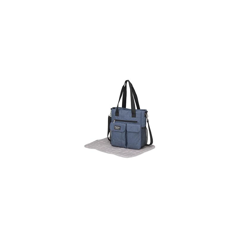 Pirulos bolso Carry azul + cambiador Denim
