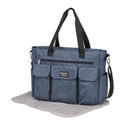 Pirulos bolso Gemelar azul + cambiador Denim