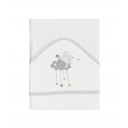 Bimbidreams maxicapa de baño Dulces Sueños blanco-gris