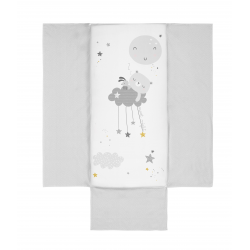 Bimbidreams colcha + protector Dulces Sueños, blanco-gris