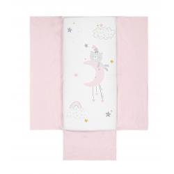 Bimbidreams Colcha + protector Dulces Sueños rosa