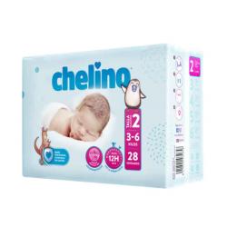 Chelino Pañales T2 (3-6 KG) 28UDS