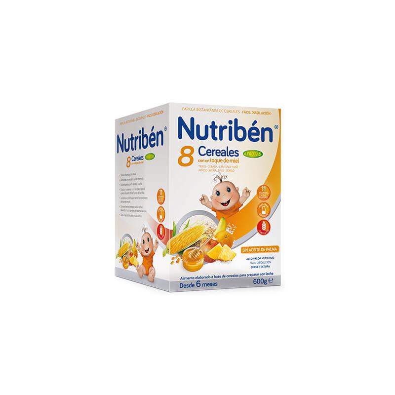 Nutribén Papilla 8 Cereales, Miel y 4 Frutras 600gr