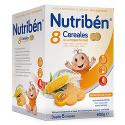 Nutribén Pailla 8 Cereales, Miel y Galleta 600gr