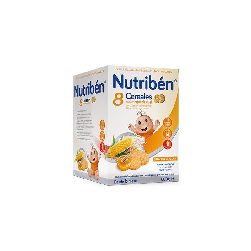 Nutribén Pailla 8 Cereales, Miel y Galleta 600gr