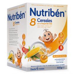 Nutribén Papilla 8 Cereales y Miel 600gr