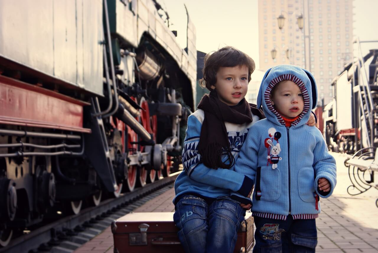 Viajar con bebés y niños tren